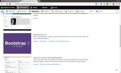 instalación del tema bootstrap en drupal