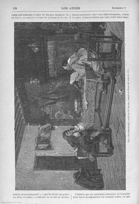 hoja digitalizada del Diario Los Andes de diciembre del año 1878 en la Biblioteca Digital de Prensa Histórica