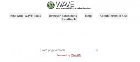 Imagen de la front page de la herramienta WAVE para el análisis de la Accesibilidad de sitio y páginas web