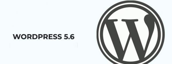 Texto WordPress 5.6 junto con el logotipo de WordPress