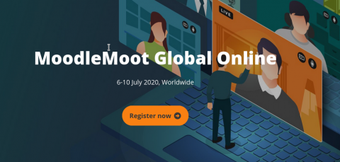 Frontpage del sitio web de MoodleMoot Global