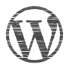 logotipo de wordpress distorsionado